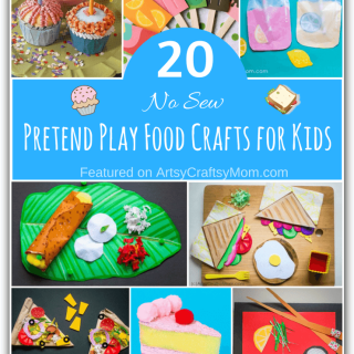 If you want to set up your pretend play food station without spending a bomb or using plastic, try these - easy, no sew pretend play food crafts for kids!