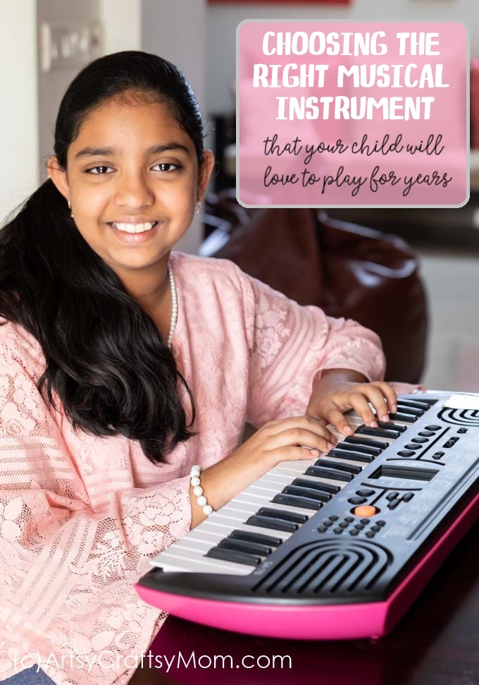 Choosing the right musical instrument your child will love to play for years