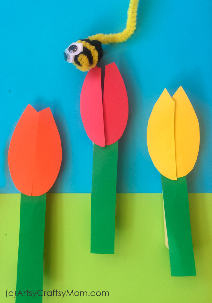Let your preschooler enhance those fine motor skills with a cute little bee and flower game! This clothespin activity isn't just colorful, it's quite engaging!
