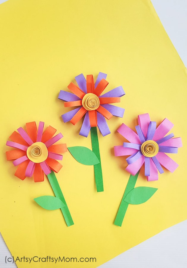 Paper Flower Craft For Summer