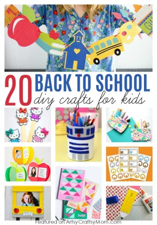 20 Awesome Back to School Crafts for Kids to Make and Gift
