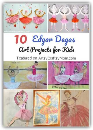 Edgar Degas' unusual angles and attention to detail is remarkable, and is a great lesson in concentration. Let's learn more about this artist with some enchanting Edgar Degas art projects for kids!