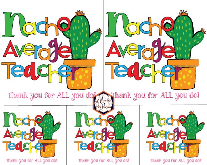 image relating to Printable Cards for Teachers identify 25 Incredible Instructors Appreciation Playing cards with Totally free Printables