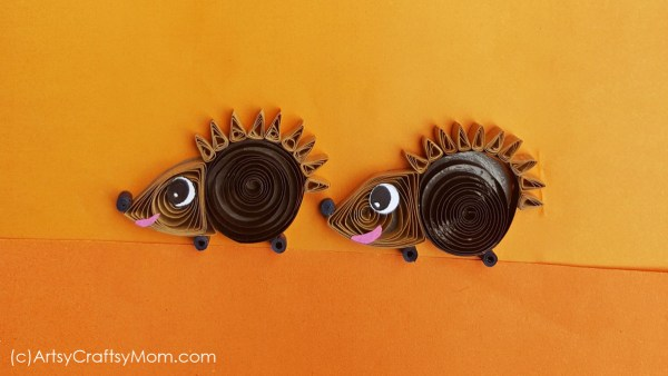 There's no fear of pricking your fingers with this Paper Quilling Hedgehog Craft!! Easy fall craft for kids, or to learn about woodland animals.