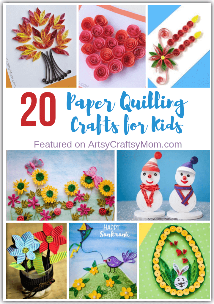 Our list of Paper Quilling Crafts for the entire year have you covered for all seasons and festivals! From New Year's to 4th of July to Christmas - it's all here!
