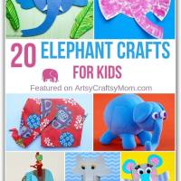 20 Enormously Cute Elephant Crafts for Kids