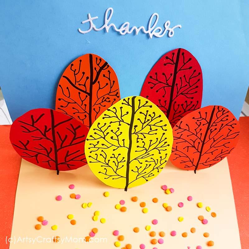 Super Simple DIY Autumn Tree Pop Up Card
