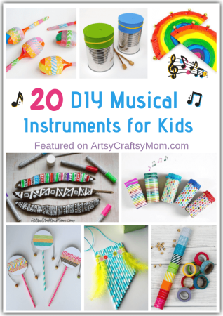 Bring the band alive at your home with these DIY Musical Instruments for Kids to Make and play! And they actually make music, too!