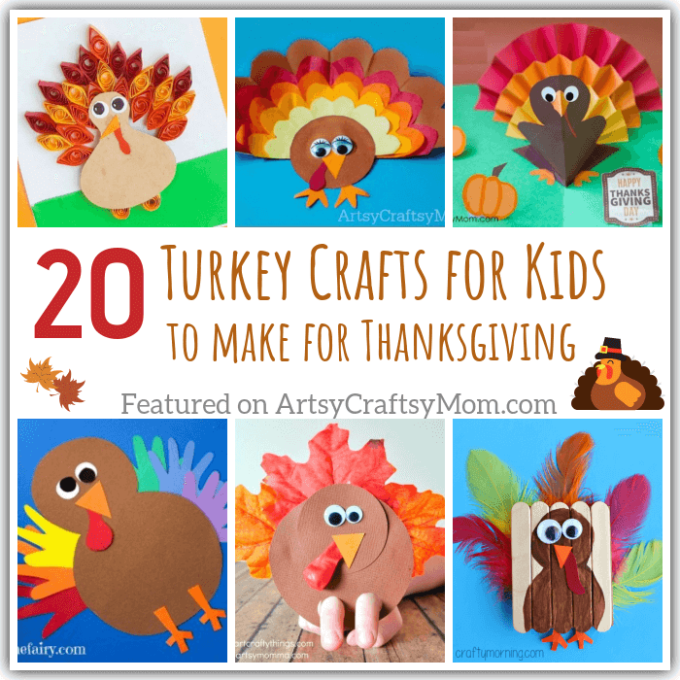 20 Terrific Turkey Crafts For Kids To Make This Thanksgiving