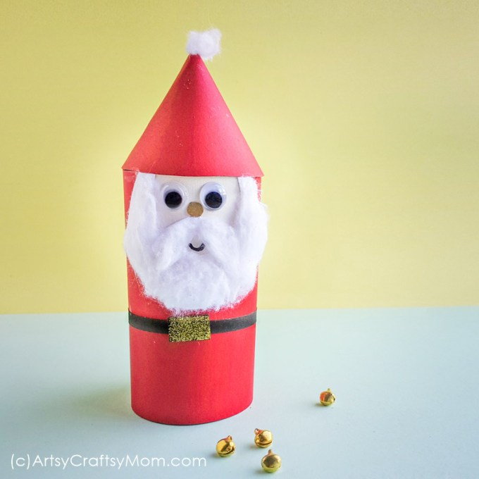 This Cardboard Roll Santa Claus Christmas Ornament will look bright and cheery, hanging on your tree. It'll also explain all those presents under the tree!