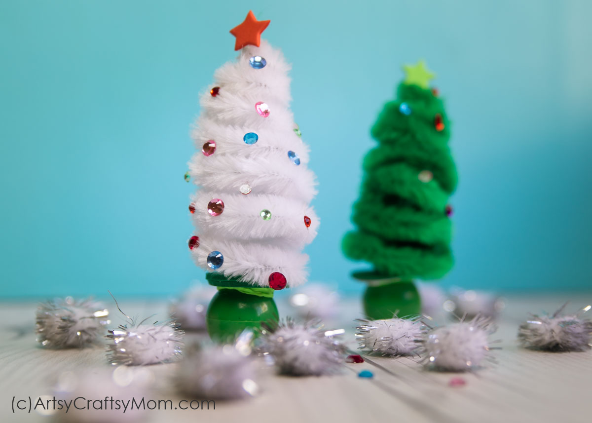 Pipe Cleaner Christmas Trees.Pipe Cleaner Christmas Tree Craft