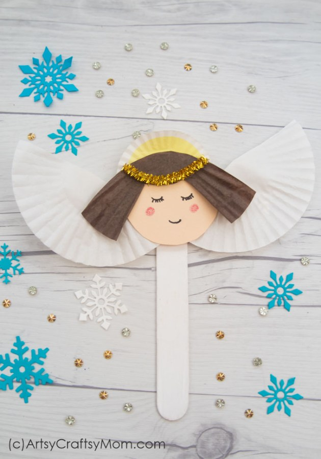 Spread peace and love all around with this pretty Popsicle Stick Angel Craft for kids! Easy to make with basic supplies and things lying around your home.