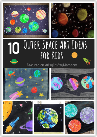 10 Outer Space Art Ideas that are Out of this World
