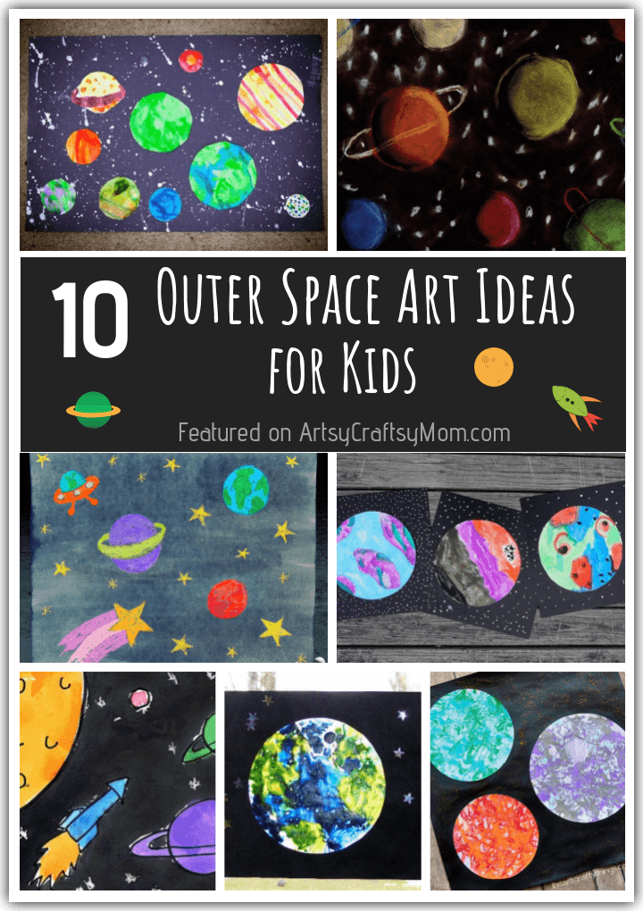 Want to create art that's out of this world? Look no further than these amazing outer space art ideas for kids - these are stunning enough to frame!