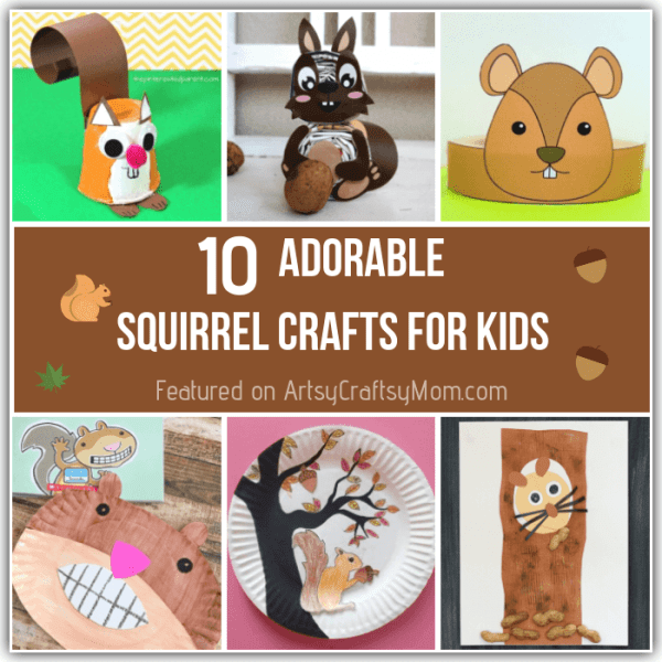 You'll find it hard to resist the collective cuteness of these adorable squirrel crafts for kids! Make them with paper, felt, play doh or even an old glove!