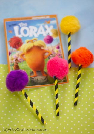 The Lorax Inspired Truffula Tree Craft | Dr Seuss Crafts