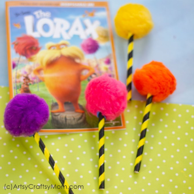 The Lorax loved his trees, and so should you! Spread the love for our planet with a Lorax inspired Truffula Tree Craft, based on Dr Seuss' favorite book!
