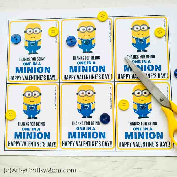 photo regarding You Re One in a Minion Printable identified as Oneself are just one inside a Minion - No cost Valentine Printable Reward Tags
