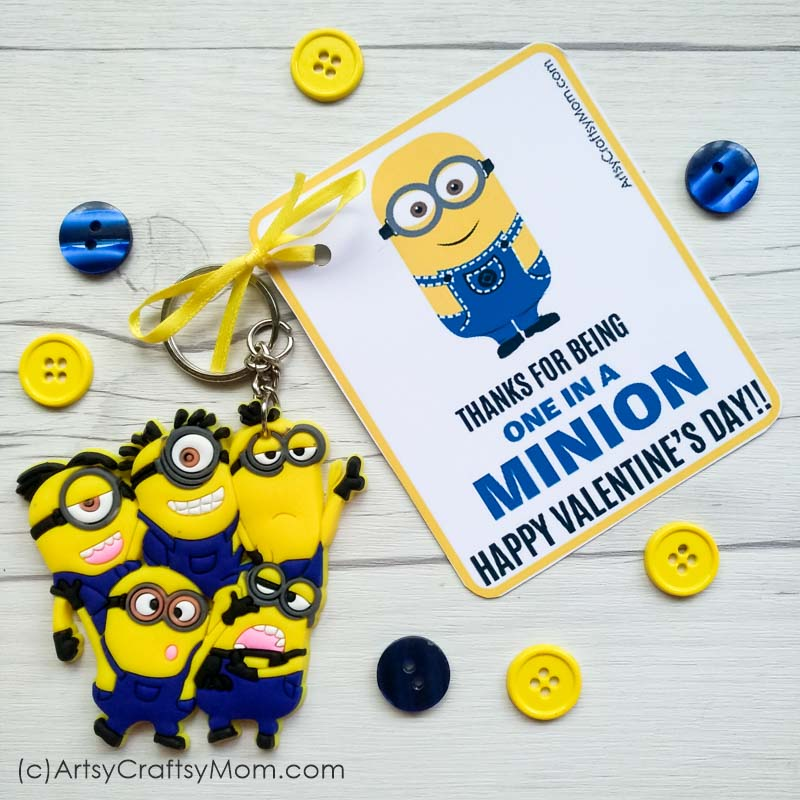 picture about You Re One in a Minion Printable identify Oneself are a single inside of a Minion - Free of charge Valentine Printable Reward Tags