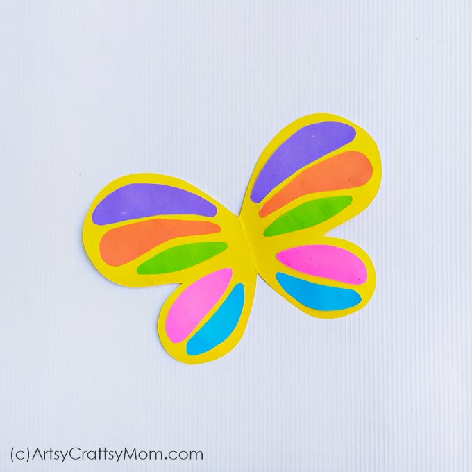 Paper Butterfly Craft Free Template Spring Craft For Kids