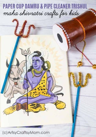 Maha Shivratri Activities for Kids | Damru and Trishul Craft
