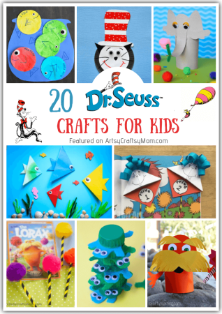 "On Dr Seuss Day, let's celebrate the father of wit & wisdom with these simple Seuss Crafts for kids! As he says, ""These things are fun and fun is good!"""