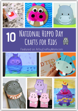10 Happening Hippo Crafts for Kids