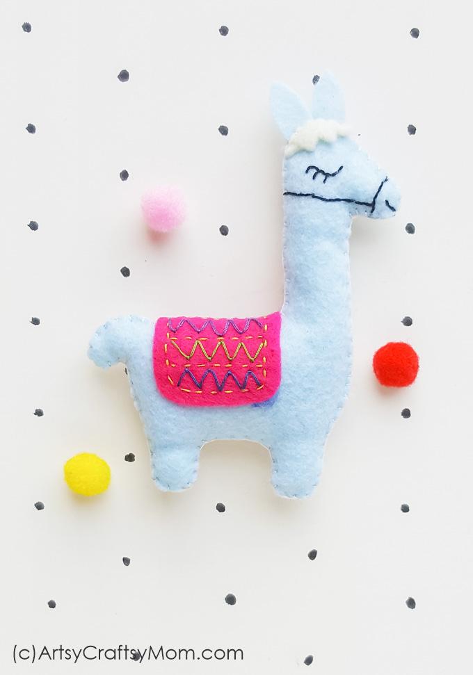 Felt Llama Craft for Kids