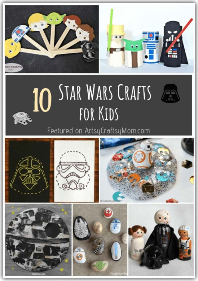 Get busy with these Star Wars Crafts and Activities for Kids in time for Star Wars Day on 4th May. May the Force be with you always!