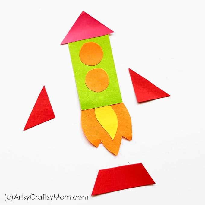 Reading takes you places and now you can take that trip on a rocket! Make this bright and colorful Rocket Corner Bookmark with supplies you already have.