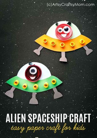 Paper Alien Spaceship Craft