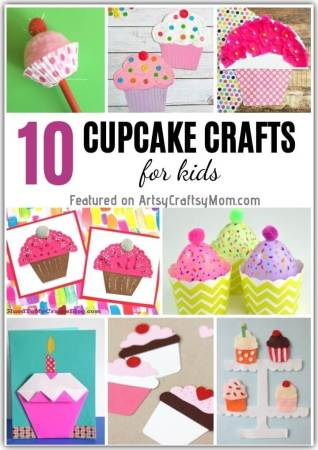 10 Cute Cupcake Crafts for Kids