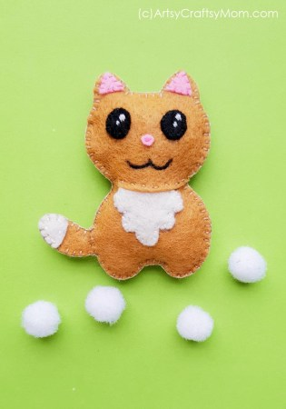 DIY Felt Cat Plushie + Free Template