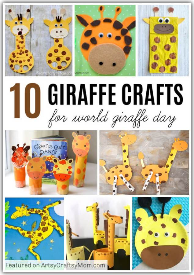 It's World Giraffe Day, which means it's the perfect time to make these giraffe crafts for kids! Learn about this amazing animal by making and playing!