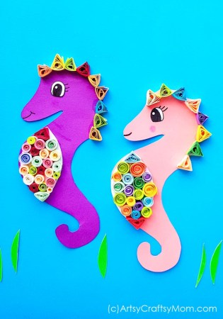 Paper Quilled Seahorse Craft