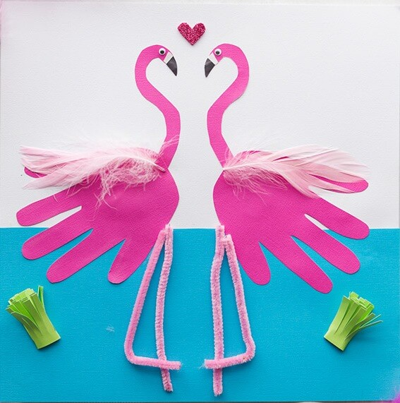 Love flamingos? Then you'll love these fancy Flamingo Crafts for Kids! Enjoy the explosion of pink with flamingos made from paper, felt, pom poms and more!