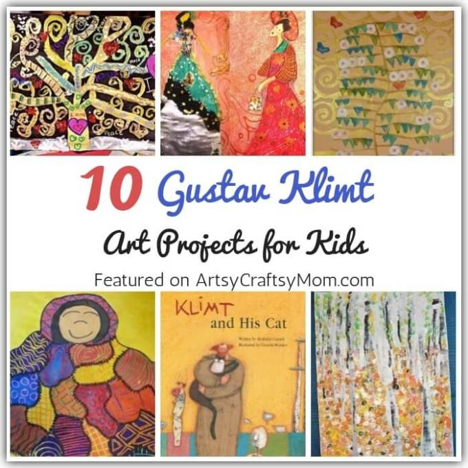 The master of metallics, Klimt loved painting with gold leaf & patterns. Let's learn more about this amazing artist with some Gustav Klimt Art Projects for Kids!