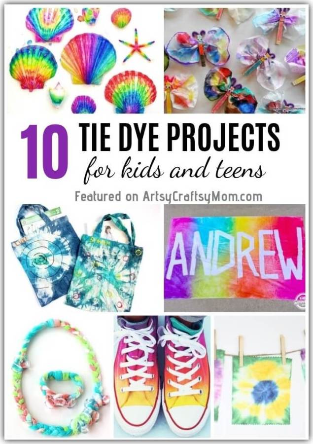 Tie and dying is a fun activity that everyone loves! Explore the various things you can make by checking out these fun Tie Dye Projects for Kids and Teens!