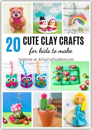 Whether it's polymer or the air drying variety, these cute clay crafts for kids are a breeze to make! Just gather your tools and unleash your creativity!