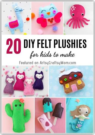 These Adorable DIY Felt Plushies are perfect for sewing beginners and even kids can make them! They also make great gifts for birthdays or any occasion!