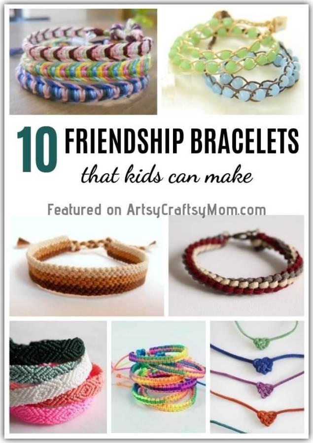 10 Diy Friendship Bracelets For Kids To Make For Friendship Day