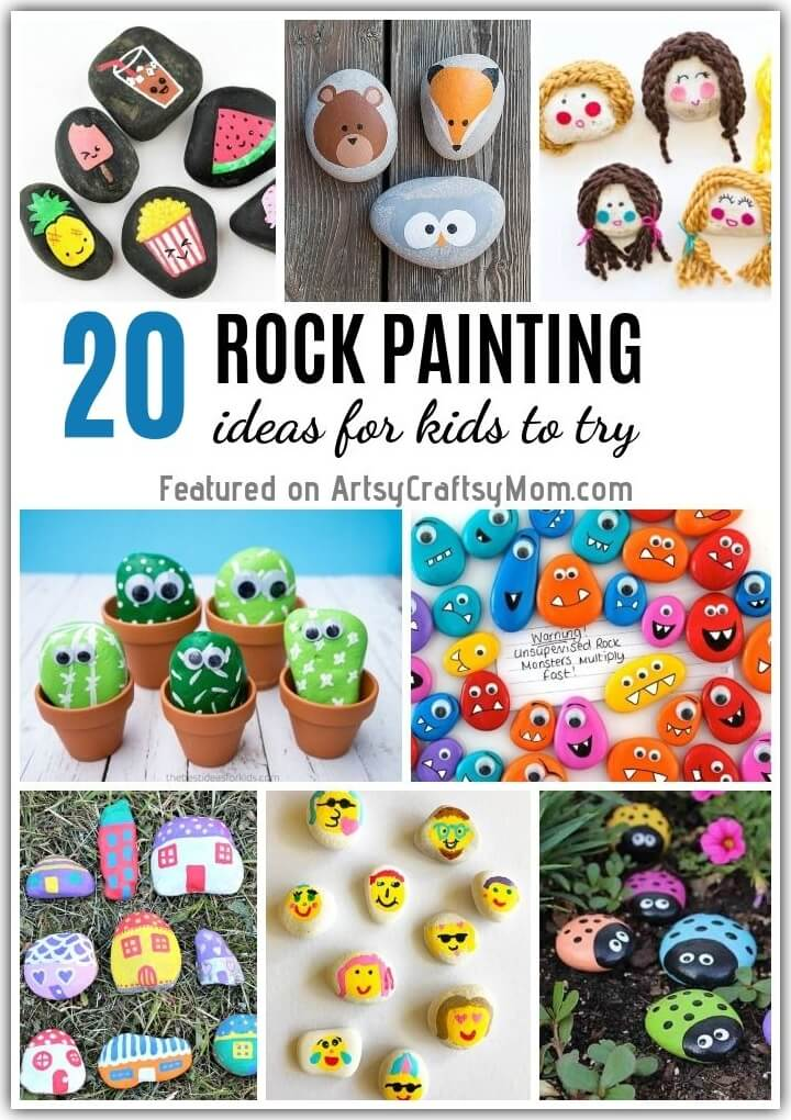 Painting Projects for Rocks of Any Kind You Can Find Rock Painting for Kids