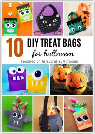 Need the perfect bag to store all that candy? Check out these easy DIY Halloween Treat Bags for kids to make and take Trick o Treating with their friends!
