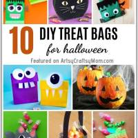 10 Easy DIY Halloween Treat Bags for Kids