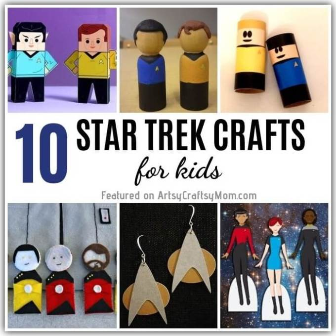 Get your geek on and go where no crafter has gone before - with these fun and easy Star Trek Crafts and Activities! Includes something for all ages!