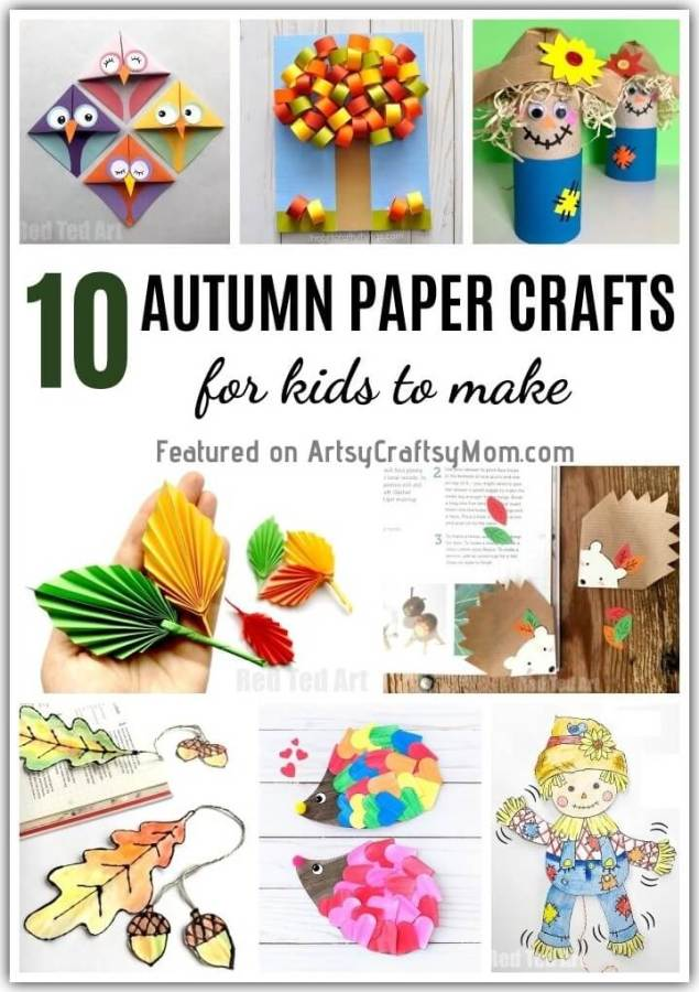 Celebrate Fall as a family, with these awesome autumn paper crafts for kids! From hedgehogs to scarecrows to leaves, everything here screams 'Fall'!