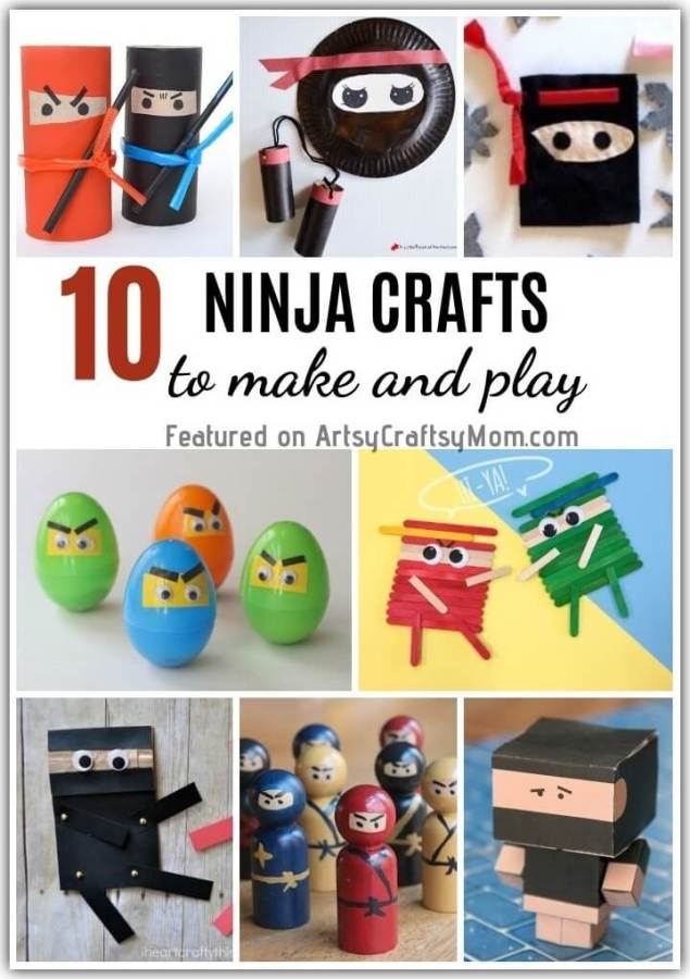 Go 'Hiya!' with our super fun and easy to make Ninja Crafts for Kids, just in time for International Ninja Day! Perfect to make, play & share with friends!