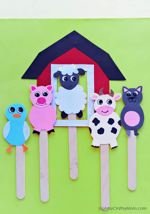 Put on your very own puppet show with these adorable Printable Farm Animal Puppets!! Download, print, assemble and get ready to have some farm-theme fun!