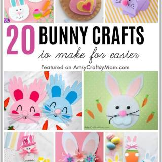Easter is nearly here, and so is the Easter bunny! Let's celebrate the festive season with some cute Bunny Crafts for Easter, using craft supplies you have!