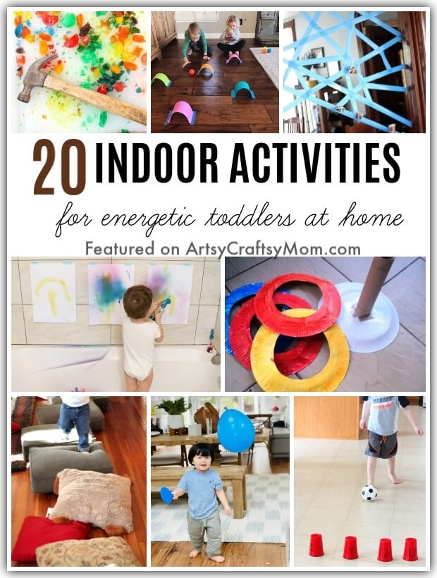 Little ones going nuts because they can't go out? Help them burn off some steam with these Fun Activities for Energetic Toddlers Stuck at Home all day!